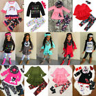 Baby - Kids Baby Girl Floral Unicorn Top T-shirt Dress Legging Pant Outfit Set US Stock