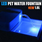 Automatic Pet Water Drinking Fountain Dog Bowl Drinking Filter LED+UV Sterilize