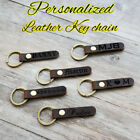 Personalized Retro Leather Keychain Custom Engraving Keyring Wedding Love Gift