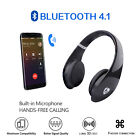 Bluetooth4.1 Audio Docks Headphones On-Ear HiFi Stereo with Mic Soft Earmuff TF