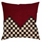 "Retro ANDESKA ALL STAR Throw Pillow or Cover, 14"" & 16"" Checkered Red Black Race"