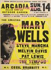 "MARY WELLS 1966 = Concert ARCADIA ROLLER RINK Chicago = POSTER 7 SIZES 19"" - 36"""