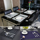 4pcs PVC Hole-Weave Insulation Bowl Placemats Dining Pattern Pad Tables Mats