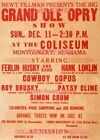 "PATSY CLINE 1960 Concert MONTGOMERY , AL = POSTER Almost 3 1/2 Feet Long 24""x40"""