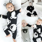 Newborn Toddler Baby Boy Girls Clothes Bodysuit Romper Jumpsuit Bear Outfit Cute