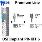 DSI Dental Implant Prosthetic Ball Attachment Silicone Cap Healing Cap PR KIT6