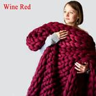 Handmade Chunky Knitted Blanket Wool Thick Line Yarn Throw Home Decor Fashion
