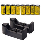 Garberiel 3.7V CR123A 123A CR123 16340 1800Mah Rechargeable Battery +Charger USA