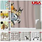 Animal Dog Cat Kid Waterproof Fabric Shower Curtain Bathroom