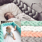 baby cots adelaide - 100CM Baby Infant Plush Crib Bumper Bed Bedding Cot Braid Pillow Pad Protector