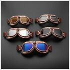 SHATTER PROOF Steampunk Aviator Motorcycle Goggles/Glasses