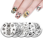UR Sugar Round Nail Art Stamping Plates Valentine's Day Image Templates Tools