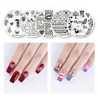 Nicole Diary Nails Stamping Plates Valentine's Day Rose Nail Art Image Templates
