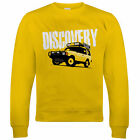 Discovery, Mens Off Roading Sweatshirt, Gift for Dad Him Birthday