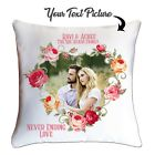 Personalised Valentines Day Photo Cushion  custom Cover Both Side Printed Option