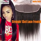 13x2 Lace Frontal Straight Lace Closures Virgin Hair Peruvian Closure Ear to Ear