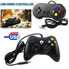 xbox 360 usb games - Black Xbox 360 & SNES Wired USB Controller Gamepad Joystick for Windows PC Games
