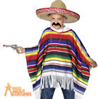 Child Poncho Mexican Multicoloured Gringo Wild West Fancy Dress Costume Kids