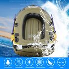 Inflatable Fishing Drifting Rescue Raft Boat Kit Life Jacket Pumps Paddles LU