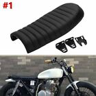Motorcycle Cafe Racer Seat Flat & Hump Saddle For Honda Suzuki Kawasaki Yamaha &