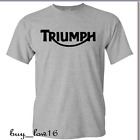 TRIUMPH MOTORCYCLE T SHIRT LOGO, BEST LOGO IMAGE. SPORT GRAY SHIRT FREE SHIPPING $13.0 USD