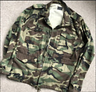 100% auth YVES Saint Laurent camouflage love embroidered parka jacket size s-xl