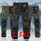 Men Winter Outdoor Waterproof Hiking Camping Climbing Skiing Fishing Pants L-5XL