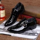 Men's Pointed Toe Oxfords Leather Shoes Business Casual Dress Formal Wedding