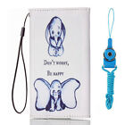 New fashion Cartoon Flower Leather slots wallet pouch case skin cover #6 C