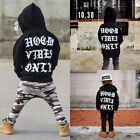 US Stock Toddler Kids Baby Boy Long Sleeve Hoodie Tops Camo Pants Outfit Clothes