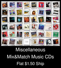 Miscellaneous(15) - Mix&Match Music CDs U Pick *NO CASE DISC ONLY*