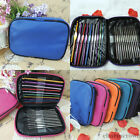 22pcs Multi-colour Aluminum Crochet Hooks Needles Knit Weave Craft Yarn W/Bag