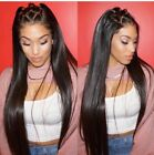 7A Human Hair Lace Front Straight Brazilian Human Hair Wigs for African American