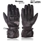 Mens Motorbike Leather Gloves Biker Waterproof Armoured Knuckle Protection Glove