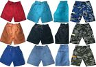 Boys Pixel Shorts Knee Length Army Camo Camouflage Combat Pocket Board 3-14 Yrs