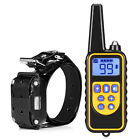 2 x 800m Dog Training Collar + 1 Remote Control Electric Rechargeable Waterproof