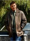 New Mens Genuine Lambskin Leather Trench Coat Long Jacket   RV/#300