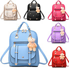 Women Girl School PU Leather Shoulder Bag Backpack Travel Rucksack Purse Bookbag