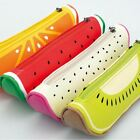 Fruit style cute school pencil case for girls Novelty Leather pencil bag Station