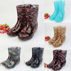 Women's Anti-skid Rain Boots Waterproof Rubber Short Solid Comfy Garden Shoes
