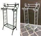 Metal Free Standing French Provincial Bathroom Towel Rail Metal Black OR White
