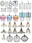 MODERN CEILING PENDANT LIGHT VINTAGE LAMP SHADE CHANDELIER ACRYLIC CRYSTAL DROP