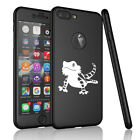 For iPhone 360° Thin Slim Case Cover + Screen Protector Bearded Dragon Lizard