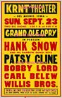 """PATSY CLINE 1962 = Concert DES MOINES , IOWA = POSTER Almost 4 Feet Long 24""""x46"""""""