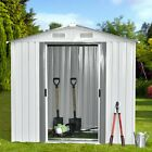 2 Size Heavy Duty Garden Steel Storage Utility Shed Outdoor Backyard Lawn OE