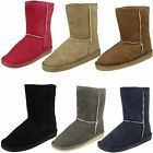 Ladies Spot On Soft Faux Fur Lined Winter Boots