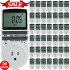 digital switch timer - 1-50Pcs Digital Timer 7 Day 12/24h Programming Outlet Plug-in Switch 15A LOT TO