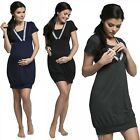 Zeta Ville.Women's Maternity Breastfeeding Nightdress Double Layered Neck.052p