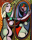 Girl before a Mirror Pablo Picasso - Poster Canvas Art print A4 A3 A2 A1 new