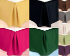 "VERSATILE PLAIN DUST RUFFLE AROUND ALL CORNERS 1PC BED BEDDING REGULAR SKIRT 14"" image"